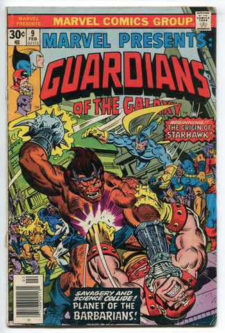 Marvel Presents #9 Guardians of the Galaxy featuring Origin of StarHawk VG 1977