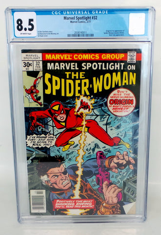Marvel Spotlight #32 1st Appearance Spider-Woman 1979 Marvel Comics VF+ CGC 8.5