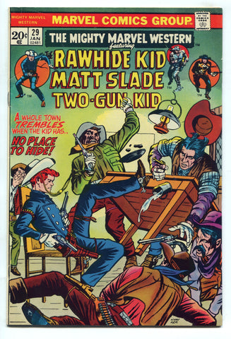 Mighty Marvel Western #29 VF High Grade 1974 Bronze Age Rawhide Two-Gun Kid
