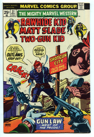 Mighty Marvel Western #31 VF High Grade 1974 Bronze Age Rawhide Two-Gun Kid