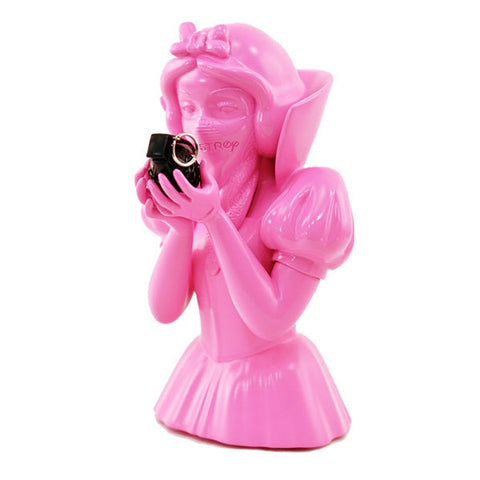 "GOIN Pink Bad Apple 8"" Figure Mighty Jaxx LE 300 Resin Statue Figure Banksy"