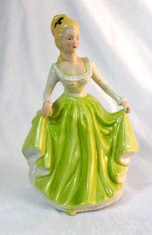 "Beautiful Vintage Ceramic 'Fair Maiden' 8"" figurine - redrum comics"