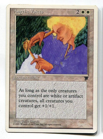 Magic the Gathering Angelic Voices x1 Chronicles Unplayed Rare Card MTG - redrum comics
