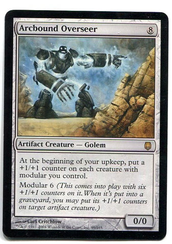 Magic the Gathering Arcbound Overseer x1 Darksteel Unplayed Rare Card MTG - redrum comics