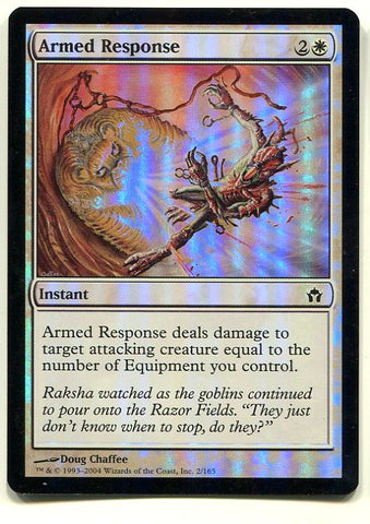 Magic the Gathering Armed Response FOIL x1 Fifth Dawn Unplayed Common Card MTG - redrum comics