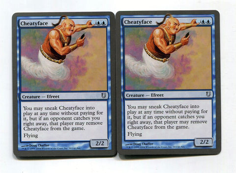 Magic the Gathering Cheatyface x2 Unhinged Unplayed UnCommon MTG - redrum comics