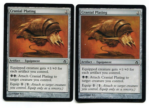 Magic the Gathering Cranial Plating x2 Fifth Dawn Unplayed Common Card MTG - redrum comics