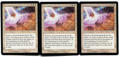 Magic the Gathering Dimensional Breach x3 Scourge Unplayed Rare Card MTG
