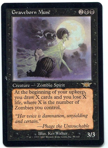 Magic the Gathering Graveborn Muse x1 Legions Unplayed Rare Card MTG - redrum comics