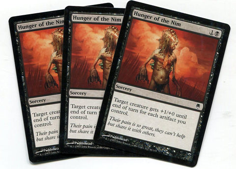 Magic the Gathering Hunger of the Nim x3 Darksteel Unplayed Common MTG - redrum comics
