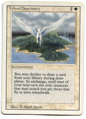 Magic the Gathering Island Sanctuary x1 Chronicles Light Play Rare Card MTG - redrum comics