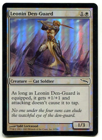 Magic the Gathering Leonin Den-Guard x1 FOIL Mirrodin Unplayed Common Card MTG - redrum comics