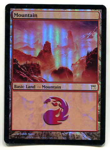Magic the Gathering Mountain John Avon Art x1 Onslaught FOIL Unplayed Common MTG - redrum comics