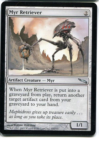 Magic the Gathering Myr Retriever x1 Mirrodin Unplayed Uncommon Card MTG - redrum comics