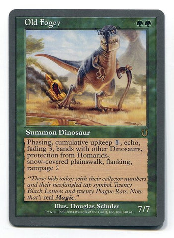Magic the Gathering Old Fogey x1 Unhinged Unplayed Rare Card MTG - redrum comics