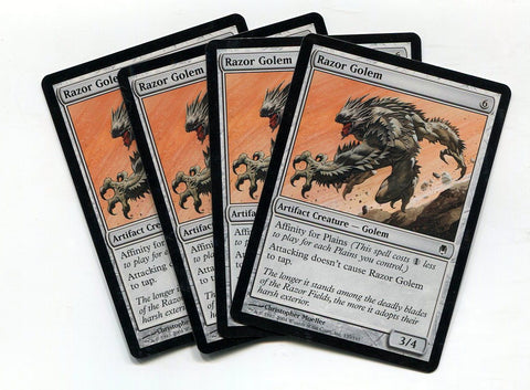 Magic the Gathering Razor Golem x4 Darksteel Unplayed Common MTG - redrum comics
