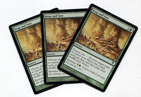 Magic the Gathering Reap and Sow x3 Darksteel Unplayed Common MTG - redrum comics