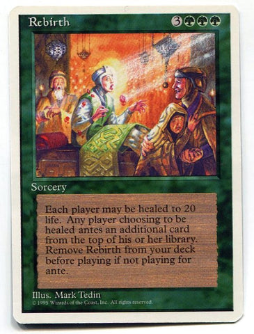 Magic the Gathering Rebirth x1 4th Edition Unplayed Rare Card MTG - redrum comics