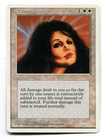 Magic the Gathering Reverse Damage x1 4th Edition Unplayed Rare Card MTG - redrum comics