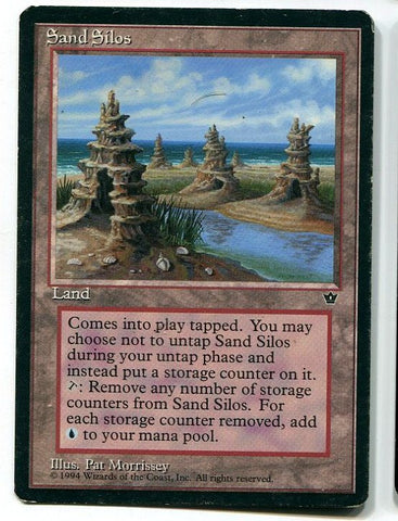 Magic the Gathering Sand Silos x1 Fallen Empires Moderate Play Rare Card MTG - redrum comics