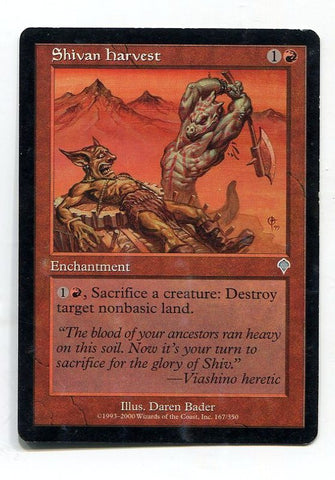 Magic the Gathering Shivan Harvest x1 Invasion Light Play Uncommon Card MTG - redrum comics