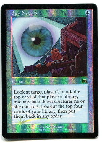 Magic the Gathering Spy Network x1 Onslaught FOIL Unplayed Common Card MTG - redrum comics
