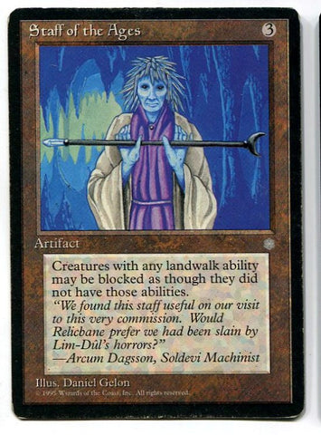 Magic the Gathering Staff of the Ages x1 Ice Age Moderate Play Card MTG - redrum comics