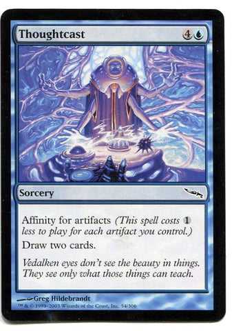 Magic the Gathering Thoughtcast x1 Mirrodin Unplayed Common MTG - redrum comics