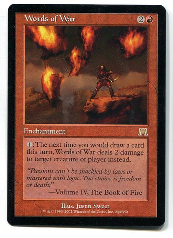Magic the Gathering Words of War  x1 Onslaught Unplayed Rare Card MTG