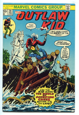Outlaw Kid #20 VF+ High Grade 1974 Bronze Age Western Marvel Comics
