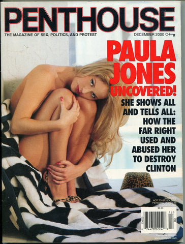 Penthouse December 2000 Paula Jones Bill Clinton Scandal Interview - redrum comics