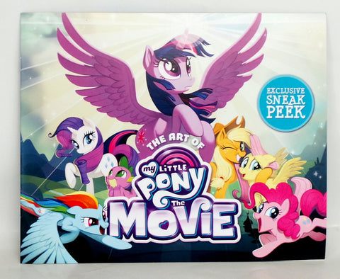 The Art of My Little Pony THE MOVIE Promo Sneak Peek Book SDCC 2017 Hasbro