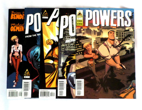 Powers #1 2 3 4 9 Icon Comics Five Issue Lot 2004 Brian Bendis Playstation TV - redrum comics