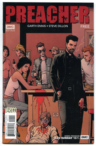 Preacher #1 VF/NM 2016 Promo Comic Book AMC Garth Ennis Steve Dillon DC Vertigo - redrum comics