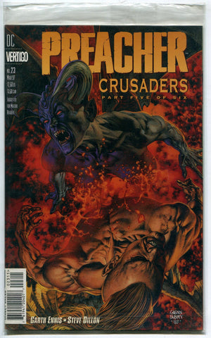 Preacher #23 VF Polybagged w/ Re-loaded Garth Ennis Steve Dillon Vertigo AMC TV - redrum comics