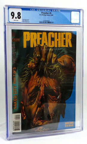 Preacher #5 CGC 9.8 NM/Mint 1st Si Coltrane 1995 DC Vertigo Garth Ennis AMC TV - redrum comics