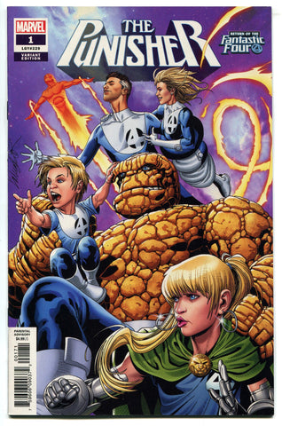 The Punisher #1 2018 FINE Fantastic Four Variant Cover by Salvador Larroca
