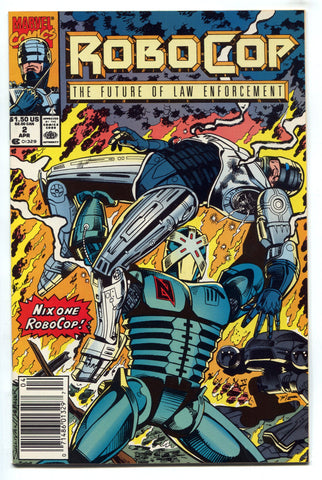 RoboCop The Future of Law Enforcement #2 NM 1990 Marvel Comics