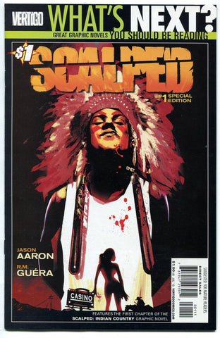 Scalped #1 (2010, DC/Vertigo) NM What's Next Reprint Special Edition WGN Show - redrum comics