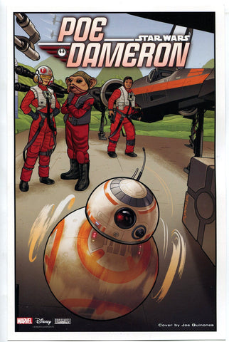 "Marvel Comics Star Wars Poe Dameron 10""x6.5"" Mini Poster SDCC 2016 BB-8 - redrum comics"