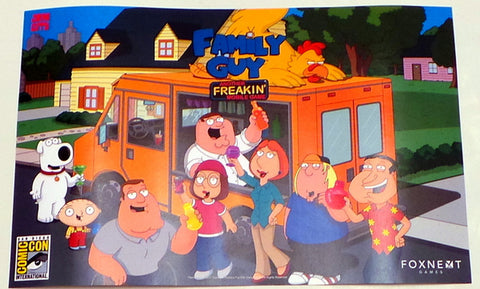 "Family Guy SDCC 2017 Exclusive 11"" x 17"" Promo Poster Fox TV Comic Con"