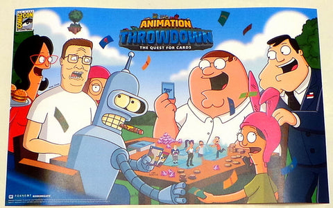 SDCC 2017 Exclusive 11x17 FOX TV Promo Poster Family Guy Bob's Burgers Futurama