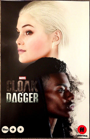 "Cloak and Dagger SDCC 2018 Exclusive 13""x20"" Promo Poster Marvel Comics Avengers"