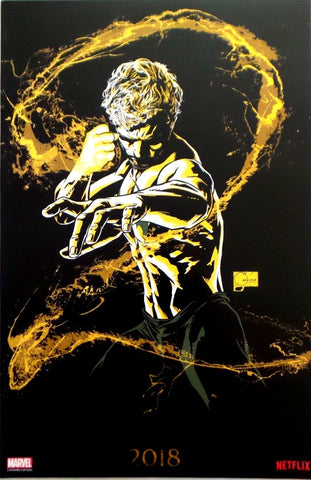 "Iron Fist Season 2 SDCC 2018 Exclusive 11"" x 17"" Promo Poster Joe Quesada art"
