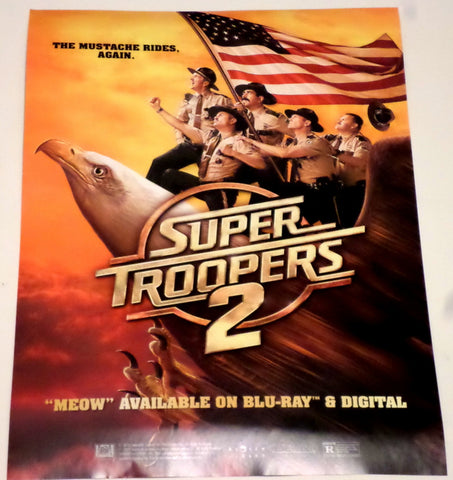 "Super Troopers 2 SDCC 2018 Exclusive 13"" x 19"" Promo Cast Movie Poster MEOW"