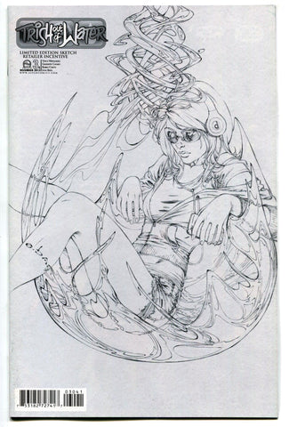 Aspen Comics Trish Out of Water #3 EBAS Retailer Incentive Sketch Cover NM
