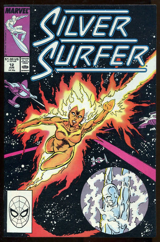 Silver Surfer #12 1988, Marvel Comics Vol #3 VF+ High Grade Copper Age