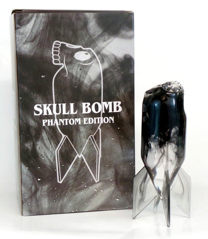 "Skull Bomb Phantom Edition 8"" Resin Art Statue Figure Jason Freeny x Mighty Jaxx"