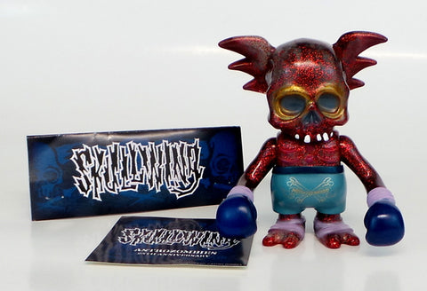 Secret Base x Astro Zombies x Pushead 25th Anniversary Red Lame GID SKULLWING