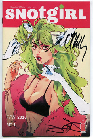 Snotgirl #1-A Signed by Brian Lee O'Malley & Leslie Hung NM 2016 Image Comics